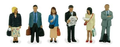 Bachmann Branchline 36-044 Station passengers standing figures x 6