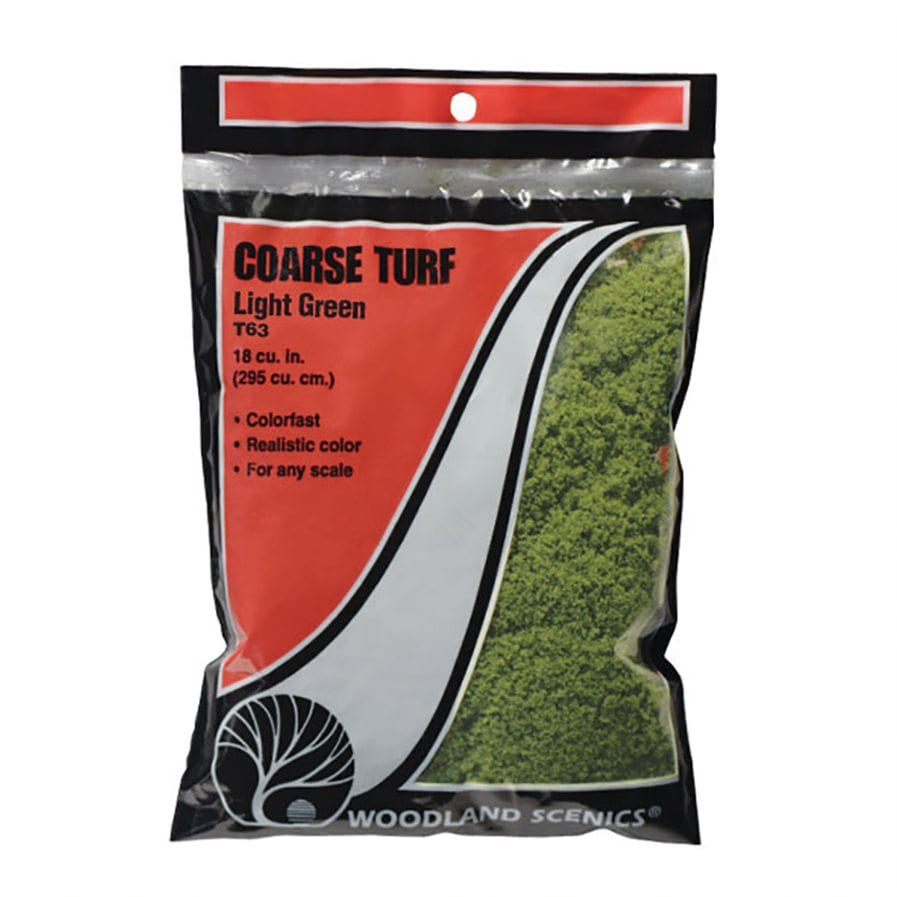 Woodland Scenics WT63 Bag Of Coarse Turf Light Green