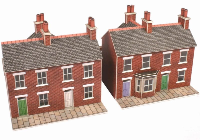 Metcalfe pn103 red brick terraced houses for Brick kit homes