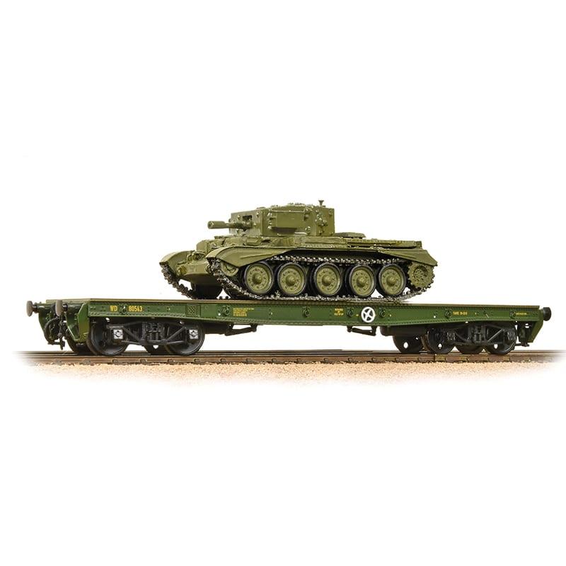 Bachmann Branchline 38-726 Warflat Bogie Flat Wagon WD Bronze Green with  tank