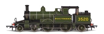 Oxford Rail OR76AR006XS Class 415 Adams Radial 4-4-2T 3520 in Southern Railway green (DCC Sound fitted)