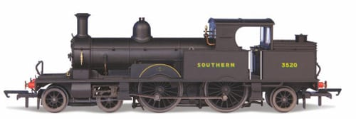 Oxford Rail OR76AR007XS Class 415 Adams Radial 4-4-2T 3520 in Southern Railway black with sunshine lettering (DCC Sound fitted)