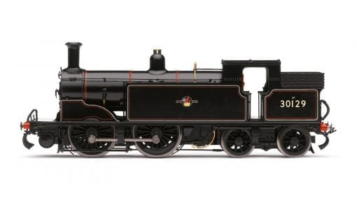 Hornby R3531 Class M7 0-4-4T 30129 in BR black with late crest