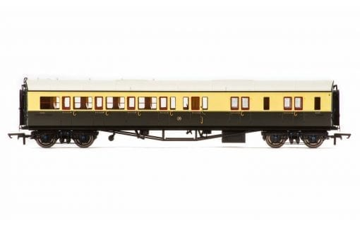 Hornby R4759 Collett corridor brake third (right hand) 5089 in GWR chocolate and cream