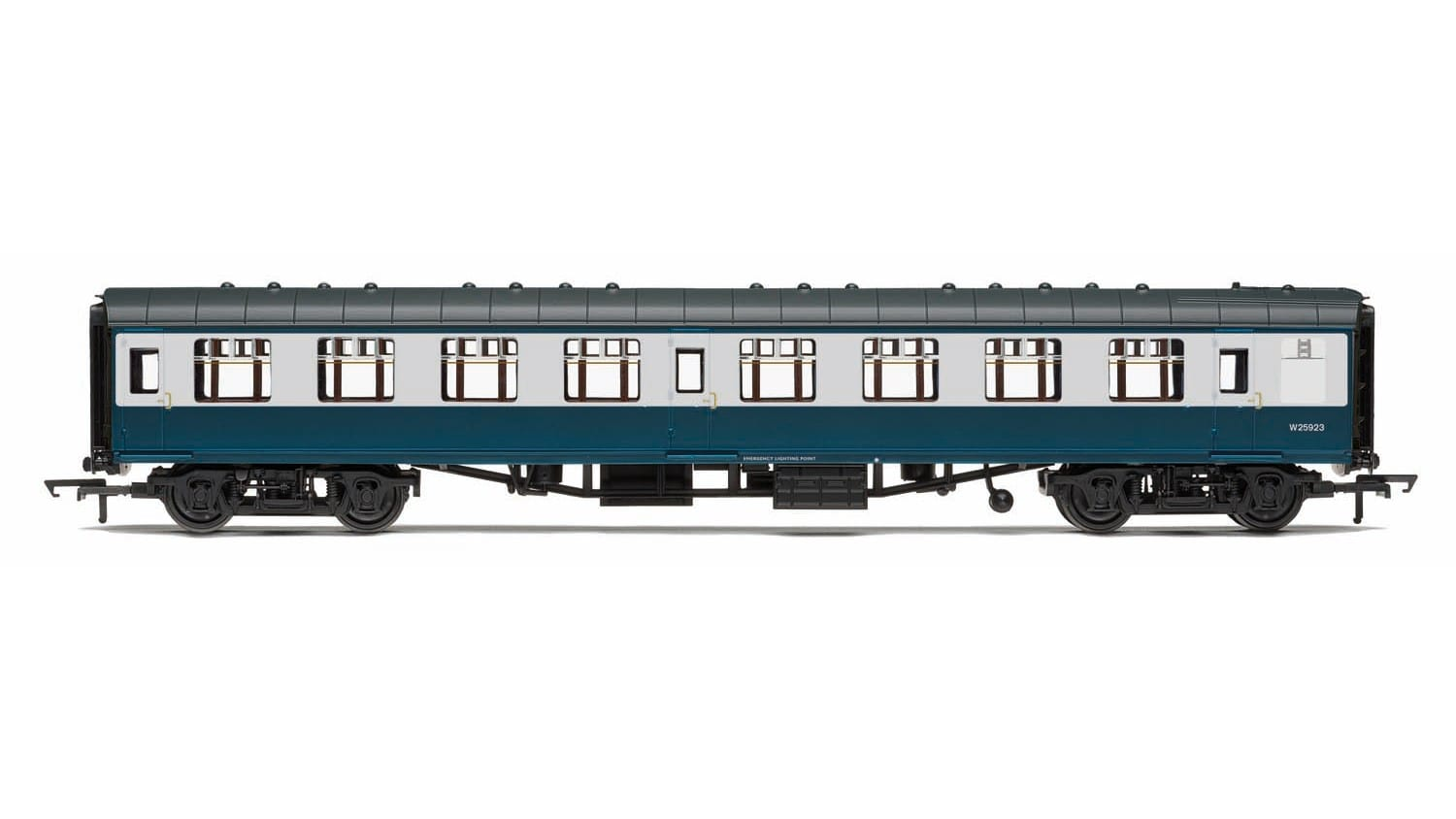 Hornby R4772 Mk1 SK second corridor W25908 in BR blue and grey