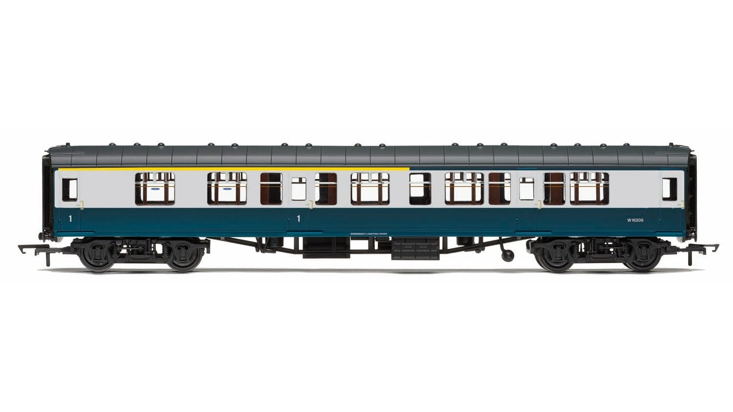 Hornby R4773 Mk1 CK composite corridor W16198 in BR blue and grey