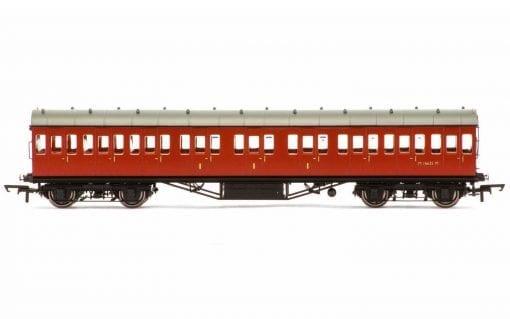 Hornby R4799 ex-LMS 57' suburban non-corridor composite M16635M in BR crimson